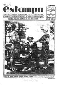 """El """"copo"""" y los """"jabegotes"""" (Revista Estampa / 18.06.1929)"""