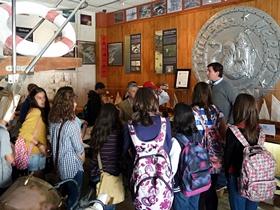 Alumnos visitan el Ecomuseo de Astilleros Nereo