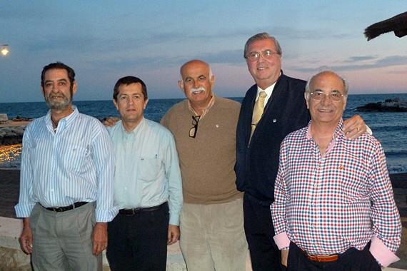 Representantes de la Liga Naval y de la ABJ