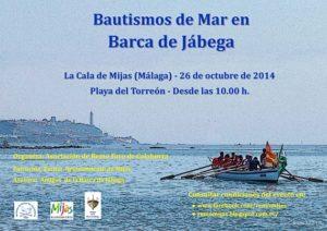 Bautismos de Mar en Barcade Jábega, el 26/10/2014, en La Cala de Mijas (Málaga)
