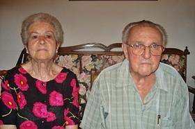 Pedro Moyano y su esposa, Aurora