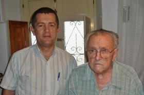 Pedro Moyano con Pablo Portillo