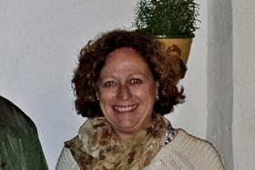 "Mª Jesús Campos, ""Chu"", autora del dibujo [fotos F.F.]"