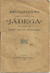 """Reglamento para la pesca de la """"JÁBEGA"""" en aguas de Conil de la Frontera"""